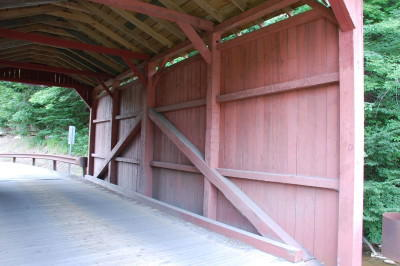Interior view of the kingpost truss