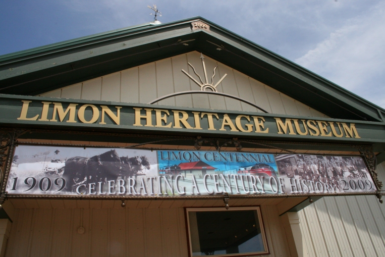 This small town museum features the historic Limon Depot building, a one-room schoolhouse, the main exhibit building, and static displays related to railroad history.