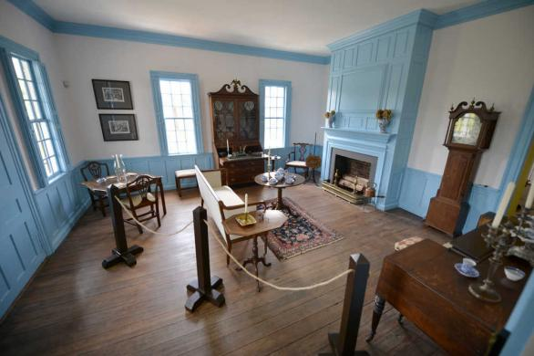 Meadow Garden now serves as a house museum, open for daily tours. This is the living room-one of many parts of the house that is open to the public.