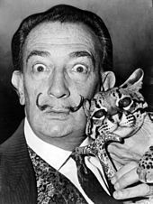 Salvador Dali in the 1960s with his famous mustache