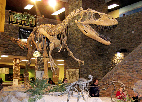 Thanksgiving Point's Museum of Ancient Life includes dinosaurs and other museum exhibits.