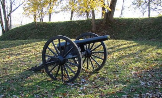 Leslie Morris Park at Fort Hill is home to the remains of two Civil War forts.