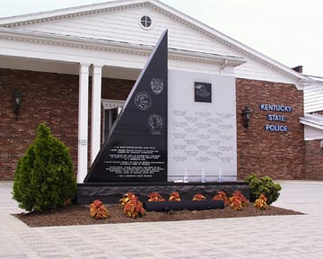 The Kentucky State Police Professional Association Memorial honors troopers who have died in the line of duty.