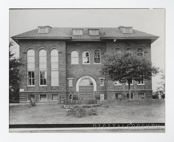 Lamson Hall, the first brick building at the Slater Industrial and State Normal School.