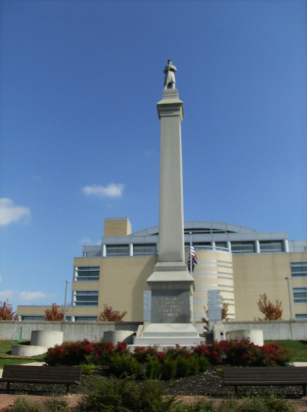 The statue as it looks today in lower courthouse hill park.