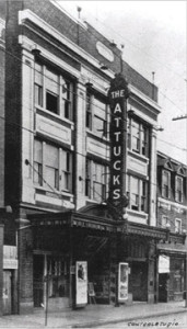 Undated historic photo of the Attucks Theatre, likely taken in the 1930s.