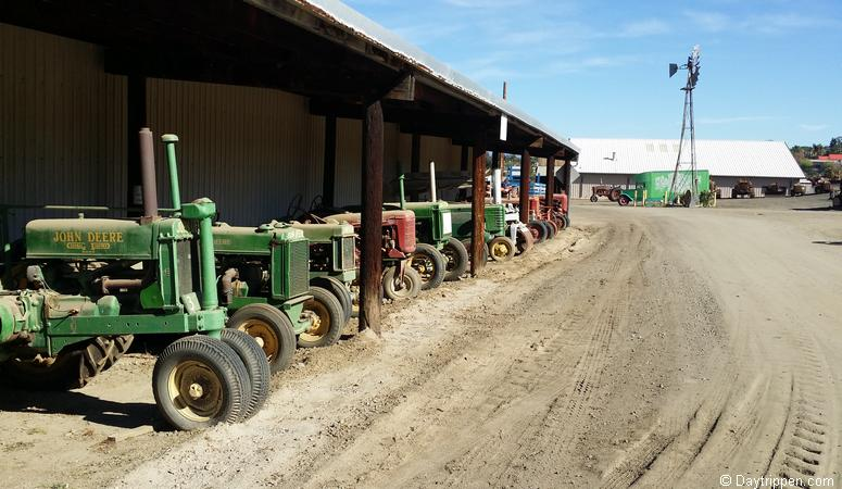 Some of the museum's tractors on display