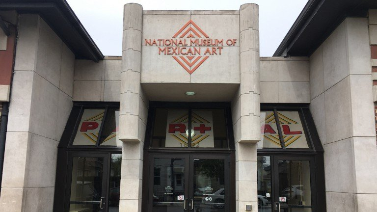 The National Museum of Mexican Art, located at 1852 W 19th St. in Pilsen, founded in 1987 by Carlos Tortolero
