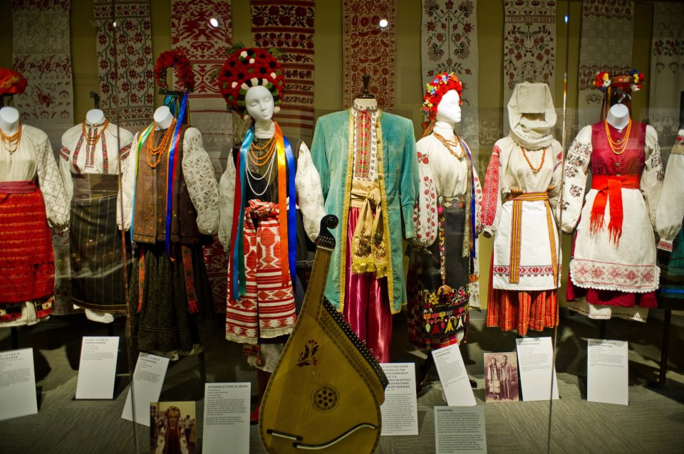 "Part of the museum's traveling exhibit ""A Cultural Thread: The Enduring Ukrainian Spirit"""