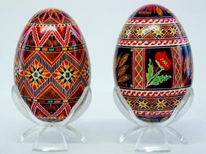 Pysanky, or decorated Easter eggs, from the museum's collection