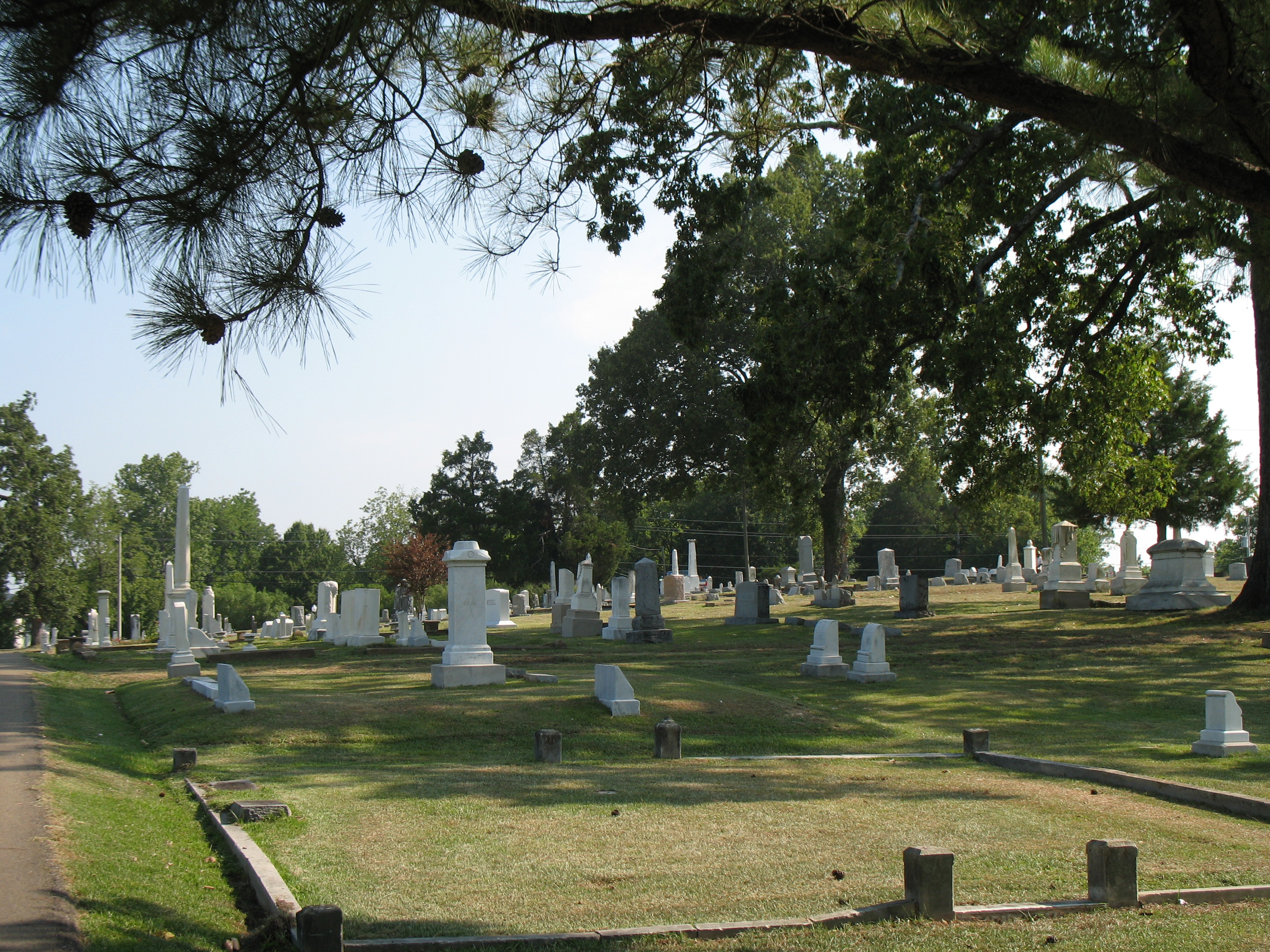 This is one of the newest pictures of the restored cemetery.