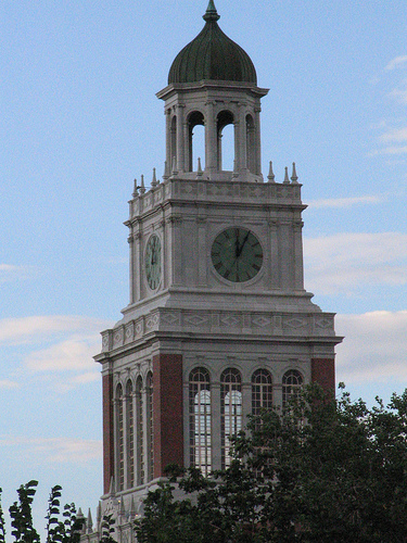 East High's clock tower. Photo by bookchen.