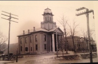 Tyler County Courthouse prior to the 1922 renovation.