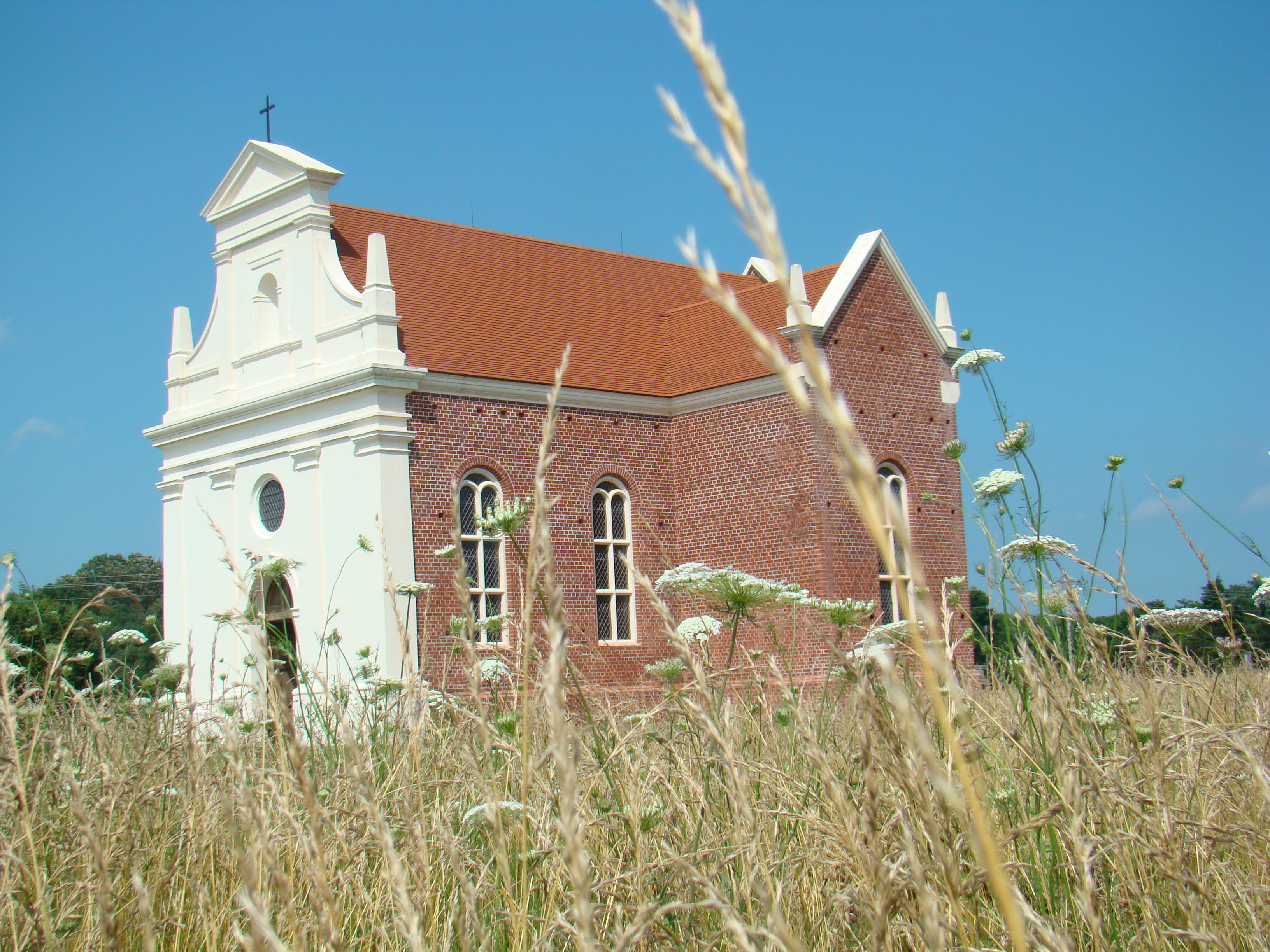 Brick Roman Catholic Church, the first on the American continent. 