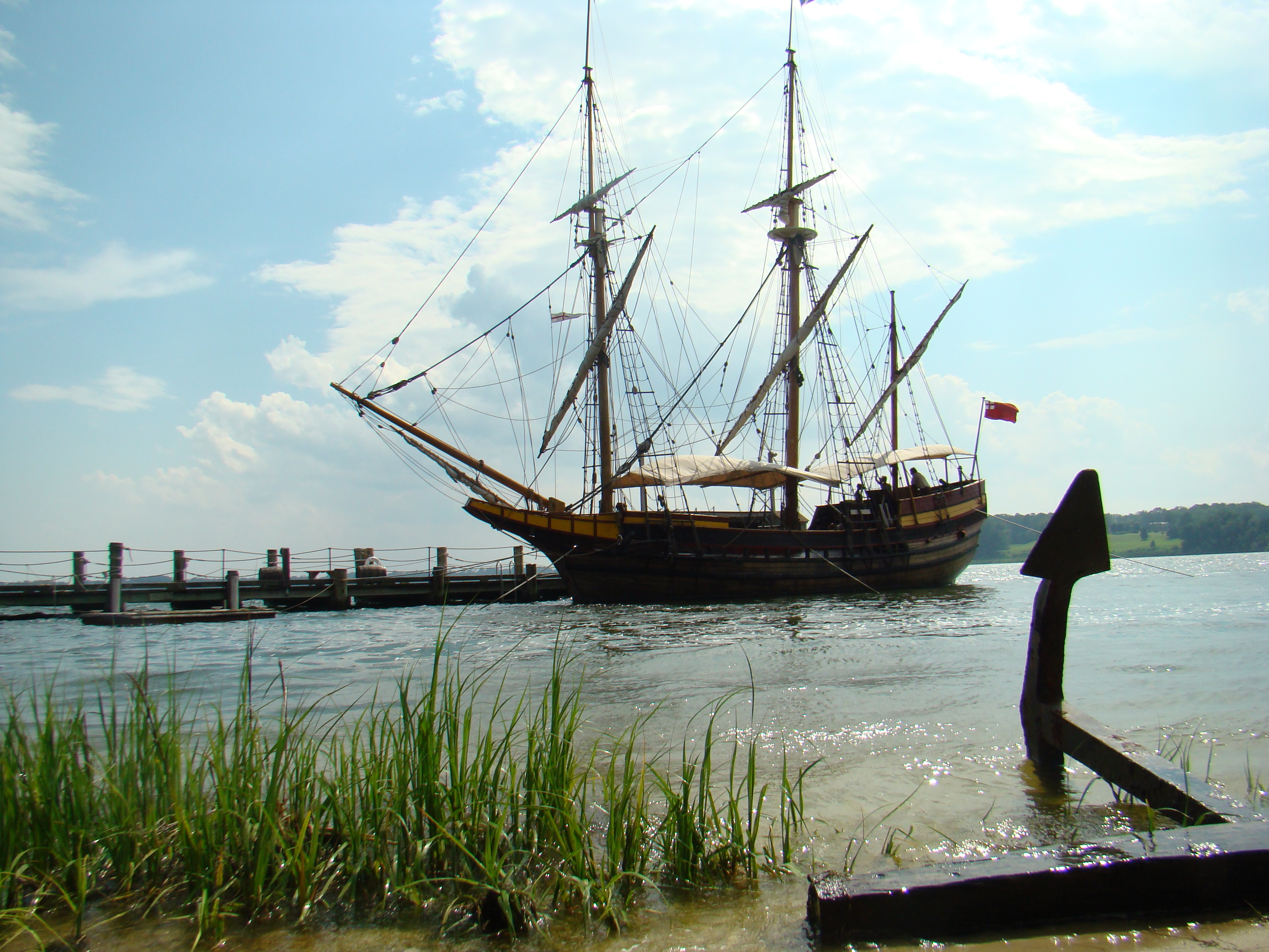 The Maryland Dove, one of the two ships that brought the settlers to the first landing in Maryland.  