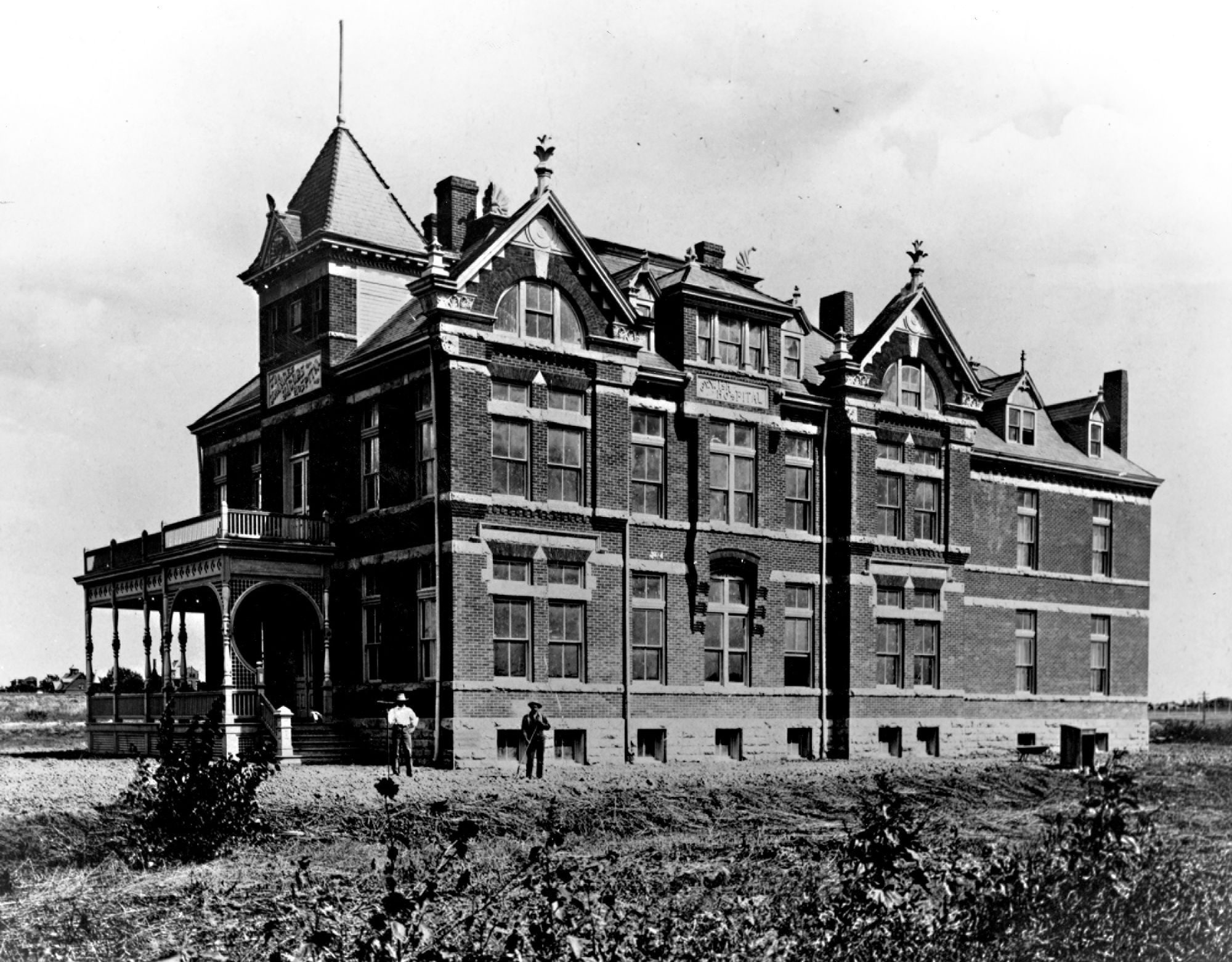 """Exterior of the first National Jewish Hospital building (The Frances Jacobs Hospital),"" University Libraries Online Exhibits, accessed July 17, 2016, http://digital.library.du.edu/librariespresents/items/show/3188."