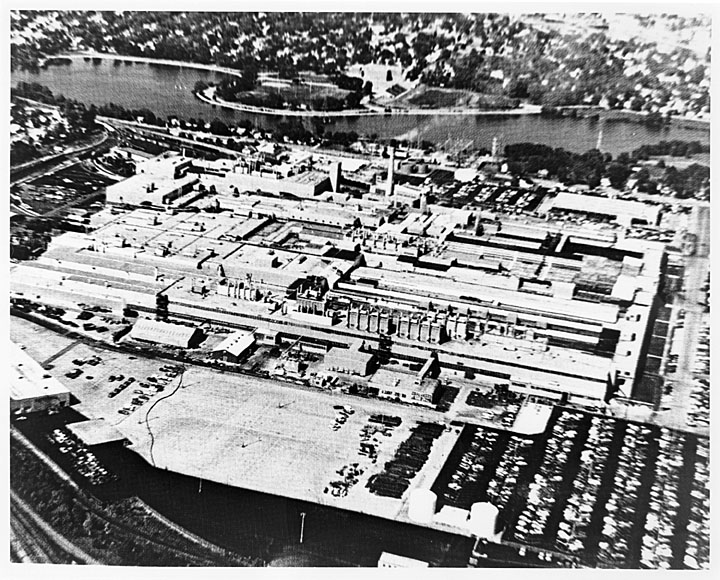 An aerial view of the plant during its heyday.