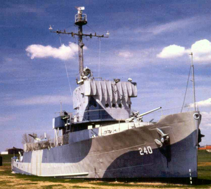 The USS Hazard is a National Historic Landmark and one of the leading features of the park.