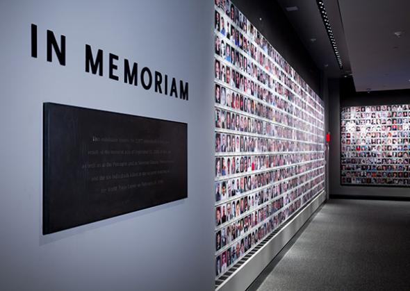 The Memorial Exhibition--pictures of the victims from the 1993 and 2001 attacks.