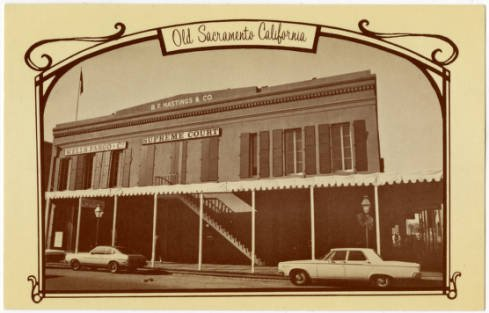 This postcard, however, finally shows the reversal of the trend. California Parks and Recreation began restoration work in 1971, and in 1976 the reconstructed building was dedicated as part of the State Park system (Sacramento Public Library).