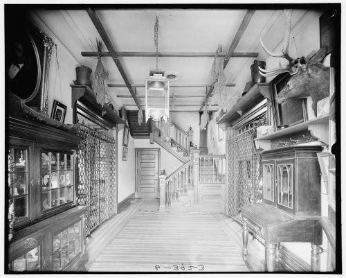 The cabin hallway
