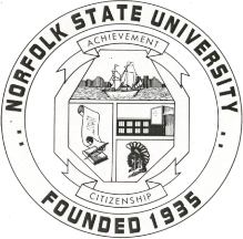 The official seal of Norfolk State University