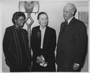 Fisk student Edythe Paulin with Georgia O'Keeffe and Carl Van Vechten (image from Fisk University's Franklin Library)