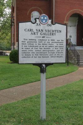 Carl Van Vechten Art Gallery historic marker (image from Historical Marker Database)