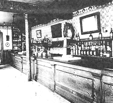 Caption:  This photo is alleged to be the interior of the Star Saloon soon after the assassination.