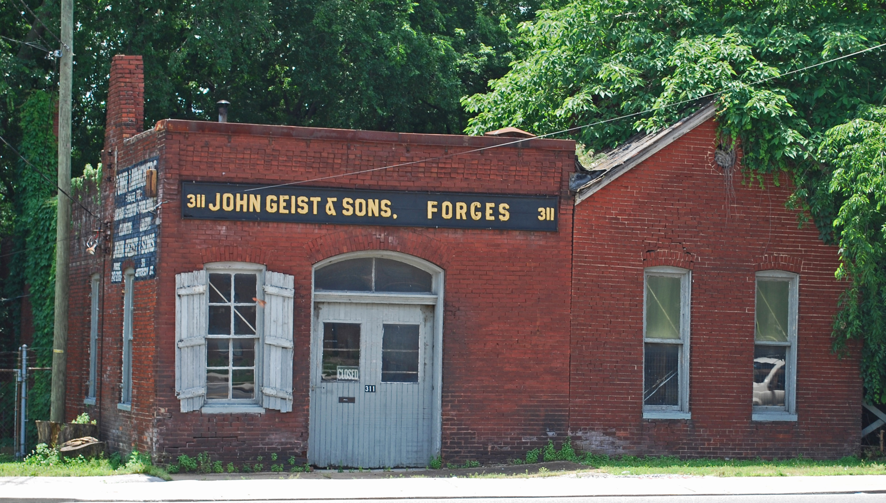 The John Geist Blacksmith Shop with attached residence (image from Wikimedia)