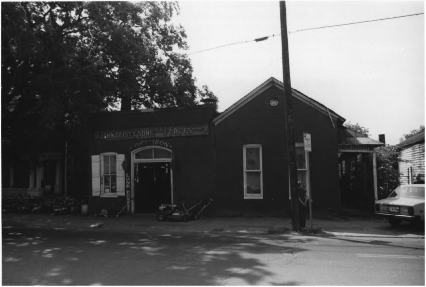 The shop in 1979 (image from the National Register of Historic Places)