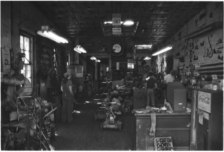 Upper floor of the blacksmith shop in 1979 (image from the National Register of Historic Places)