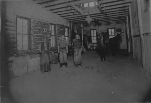 Upper floor of the blacksmith shop in 1906 (image from the National Register of Historic Places)