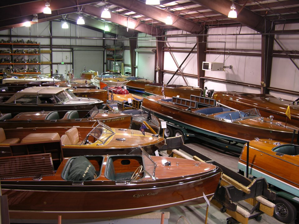 Some of the watercraft on display