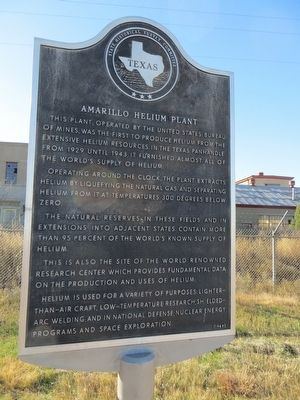 This marker is on the SE corner of W. Amarillo Blvd and Helium Road