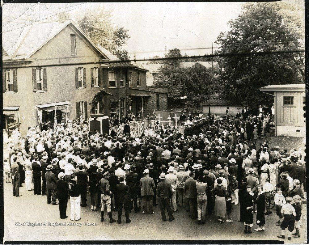 Dedication of Doughboy in Martinsburg, WV. Photo courtesy of West Virginia & Regional History.
