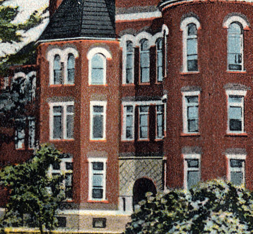 A postcard of the building from the first half of the 20th century