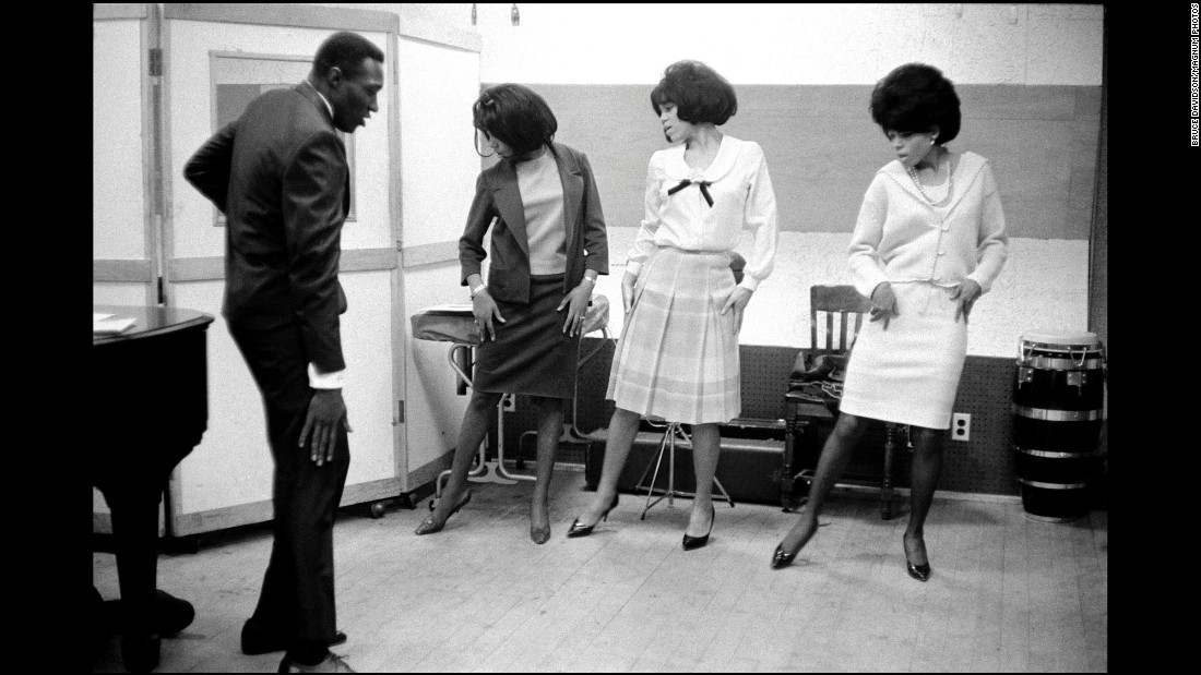 The Supremes rehearsing at the Motown studio