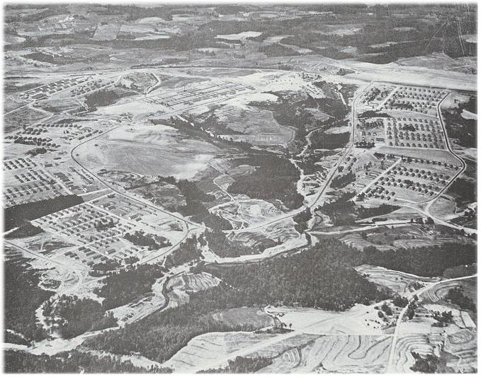 Aerial photo of Camp Croft