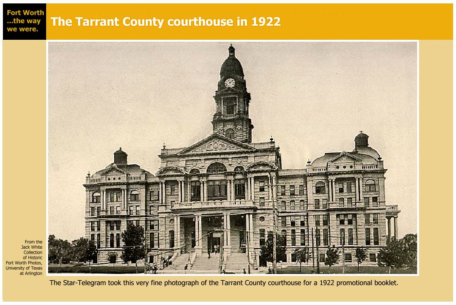 Photograph of Courthouse in 1922.