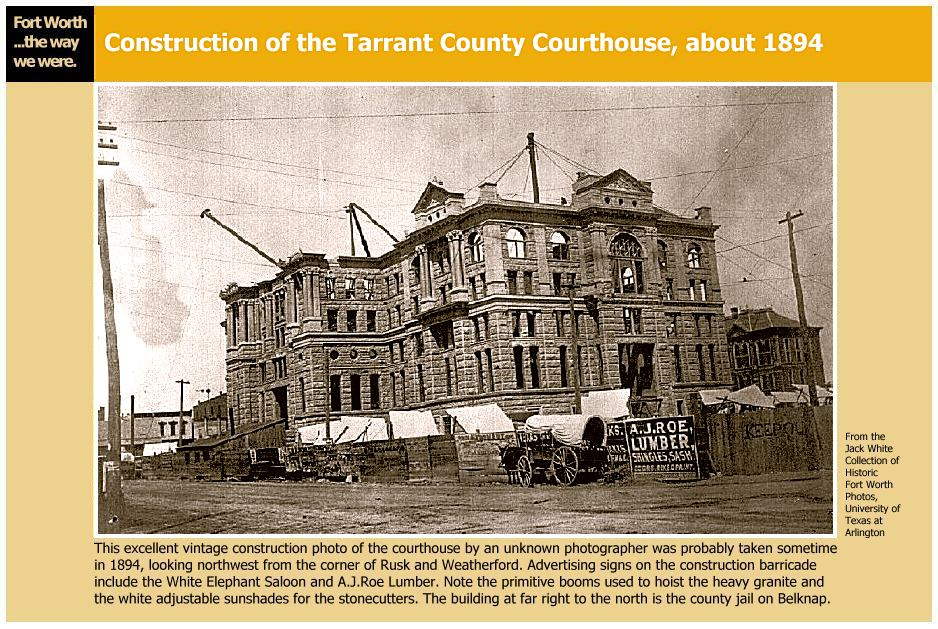 View of Courthouse during construction.