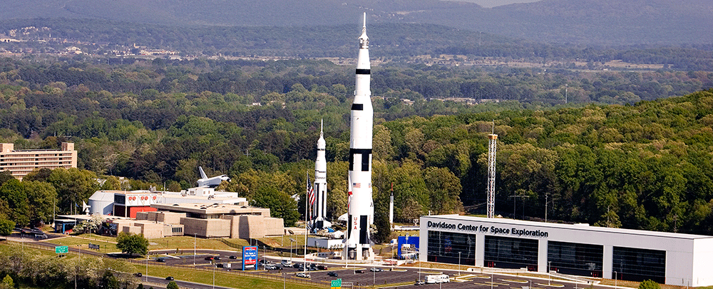 U.S. Space & Rocket Center includes historic rockets and shuttles as well as the main museum and the Davidson Center for Space Exploration.