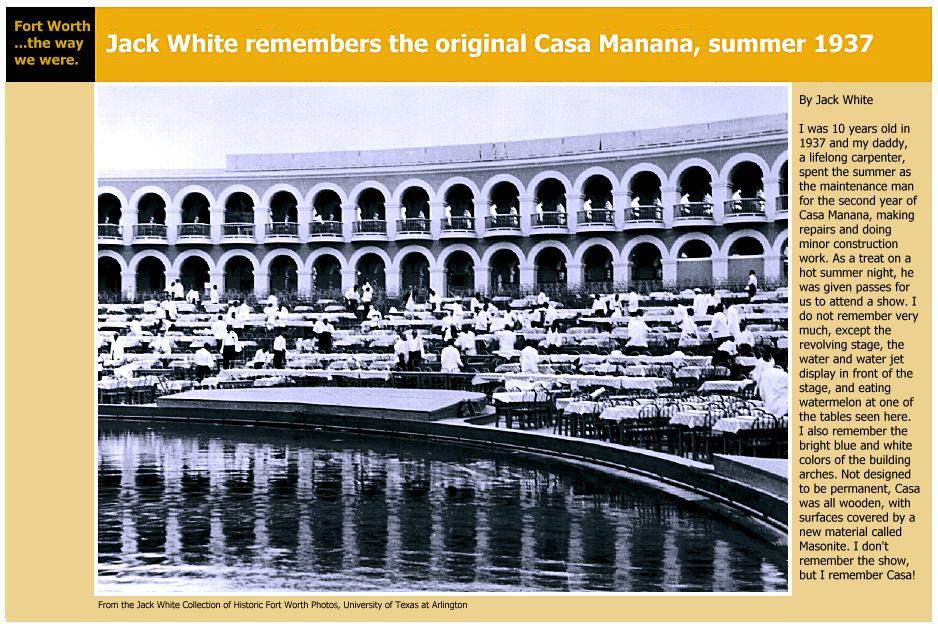 """1937 """"Original"""" Casa Mañana Amphitheater."""