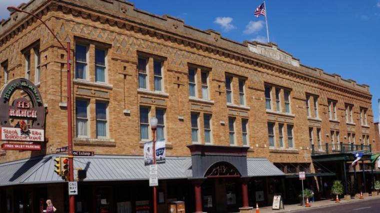Facade of the Stockyards Hotel