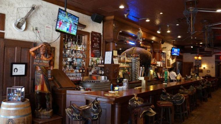 Bar at the hotel.
