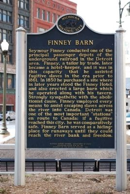 Historic marker for the barn (image from Historical Marker Database)