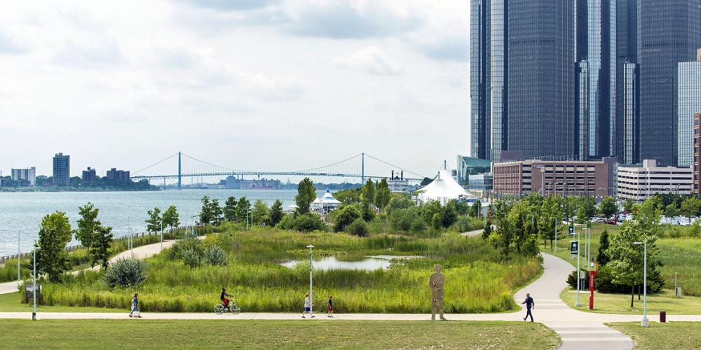 Milliken State Park Wetlands area (image from Detroit Riverfront Conservancy)