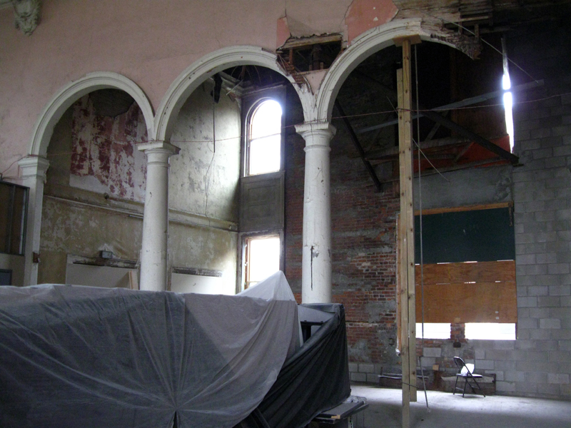 Arches in the auditorium (image from Nailhed blog)