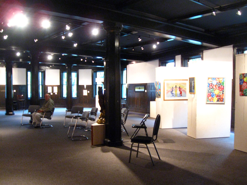 A restored portion of the building, used as a gallery by the Michigan Arts League (image from Nailhed blog)