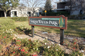 After the economic depression known as the Panic of 1873, Wallis and her husband sold their farm and lived at a cottage at Ash Street and Grant Avenue, which is now a park.